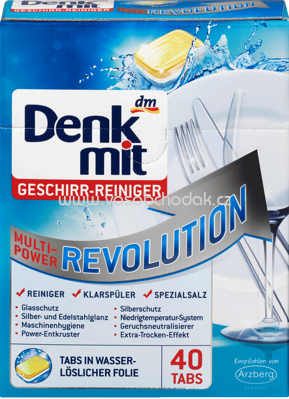 Denkmit Geschirr-Reiniger-Tabs Multi-Power Revolution, 40 St
