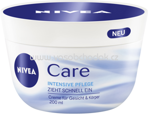 NIVEA Pflegecreme Care, 200 ml