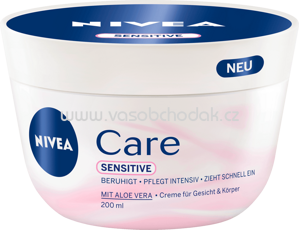 NIVEA Pflegecreme Care Sensitive, 200 ml