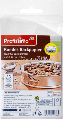 Profissimo Rundes Backpapier, 10 St