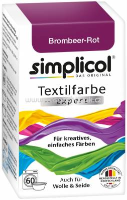 Simplicol Textilfarbe expert Brombeer-Rot, 1 St