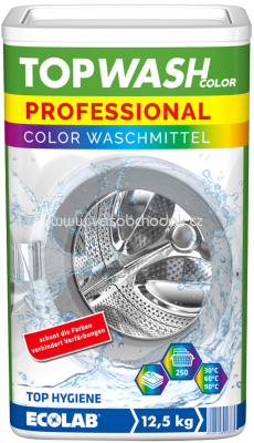 Topwash Professional Color Waschmittel, 250 Wl, 12,5 kg