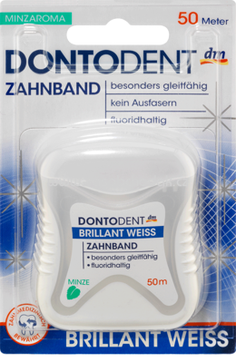 DONTODENT Zahnband Brillant Weiss, 50 m