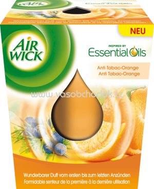 AirWick Duftkerze Essential Oil Infusion Anti-Tabac Orange, 1 St