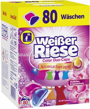 Weisser Riese Duo Caps Color Aromatherapie Orchidee & Sandelholz, 80 Wl