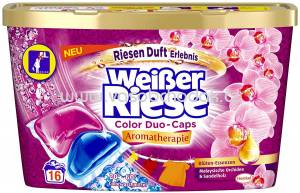 Weisser Riese Duo Caps Color Aromatherapie Orchidee & Sandelholz, 16 Wl