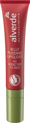 Alverde NATURKOSMETIK Lipgloss Jelly Pudding Addicted to Red 40, 10 ml