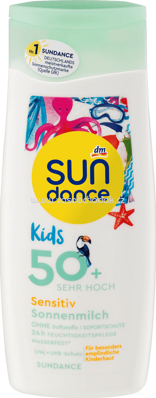 SUNDANCE Kids Sensitiv Sonnenmilch LSF 50+, 200 ml