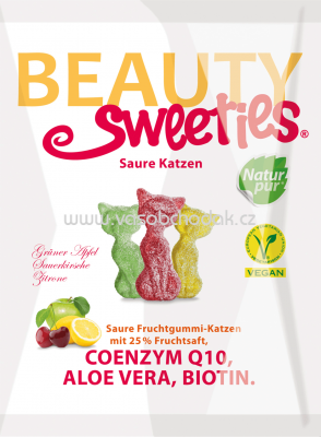 Beauty Sweeties Fruchtgummi Saure Katzen, 125 g