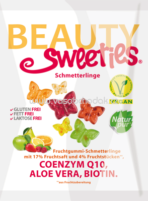 Beauty Sweeties Fruchtgummi Schmetterlinge, 125g