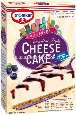Dr.Oetker Backmischungen Cheesecake American Style Blueberry, 335g