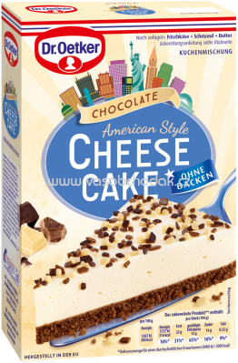 Dr.Oetker Backmischungen Cheesecake American Style Chocolate, 355g