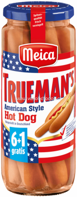 Meica Trueman's American Style Hot Dog, 7 St, 350g