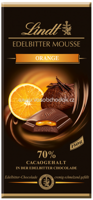 Lindt Edelbitter Mousse Orange, 150g