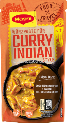 Maggi Food Travel Würzpaste für Curry Indian Style, 65g