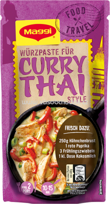 Maggi Food Travel Würzpaste für Curry Thai Style, 65g