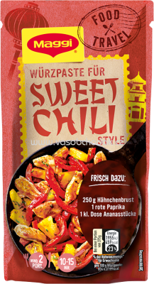 Maggi Food Travel Würzpaste für Sweet Chili Style, 65g