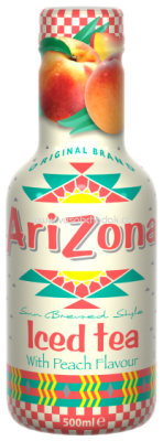 AriZona Ice Tea Peach 500 ml a 1,5 l