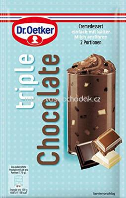 Dr. Oetker Creme & Crunch Dessert Triple Chocolate 100g