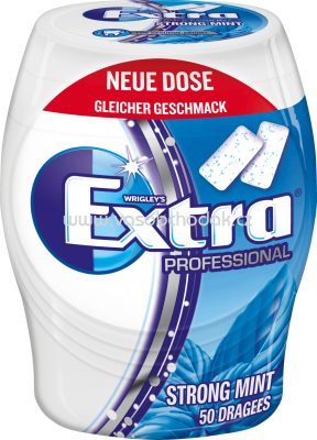 Extra Professional Kaugummi Strong Mint, Dose, 50 St