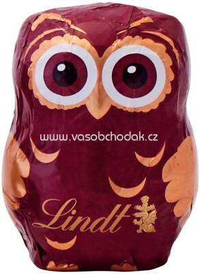 Lindt Eule Hohlfigur Milch rot, 40g