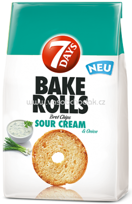 7 Days Bake Rolls Sour Cream & Onion 250g
