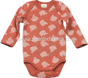ALANA Baby Body in Bio-Baumwolle, rot, 1 St