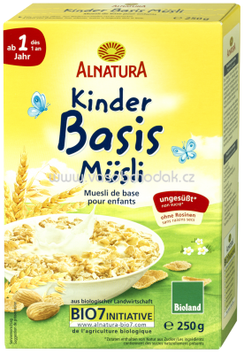 Alnatura Kinder-Basis-Müsli ab 1. Jahr, 250g