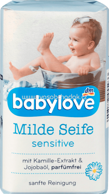 Babylove Milde Seife Sensitive, 100g