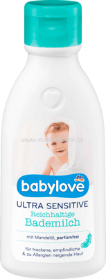 Babylove Ultra Sensitive Bademilch, 250 ml
