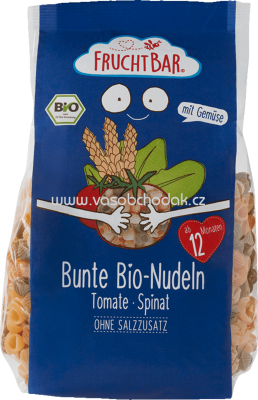 FruchtBar Bunte Bio-Nudeln, Tomate, Spinat, ab 12. Monat, 300g