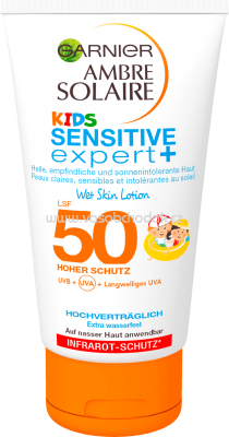 Garnier Sonnenlotion Sensitive Expert Kids Wet Skin LSF 50, 150 ml