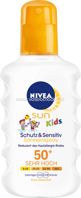 NIVEA SUN Sonnenspray Kids Protect & Sensitive LSF 50+, 200 ml