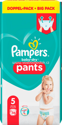 Pampers Pants Baby Dry, Größe 5 Junior, 12-17kg, Doppelpack, 56 St