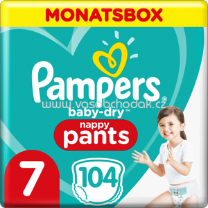 Pampers Pants Baby Dry Größe 7 Extra Large, 17+kg, Monatsbox, 104 St
