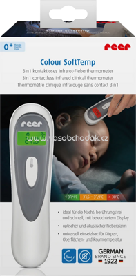 Reer Colour SoftTemp 3in1 kontaktloses Infrarot-Thermometer, 1 St
