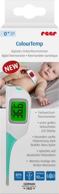 Reer Digitales Fieberthermometer Colour Temp mit großem Display, 1 St