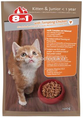 8in1 Katzennassfutter Junior mit Huhn in Sauce, 100g
