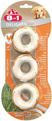8in1 Huhn Delights Rings, ab 20 kg, 3 St