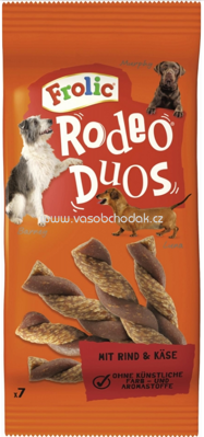 Frolic Rodeo Duos mit Rind & Käse, 7 St