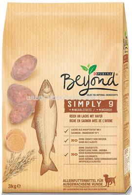 Purina Beyond Simply 9 Reich an Lachs mit Hafer, 3 kg